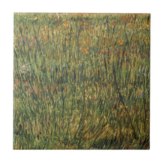 Pasture in Bloom by Vincent van Gogh, Vintage Art Ceramic Tile
