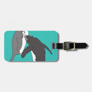 Pastures Blue and Bright Bag Tag