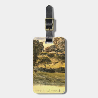 Pastures in Normandy by Jean-Francois Millet Travel Bag Tag