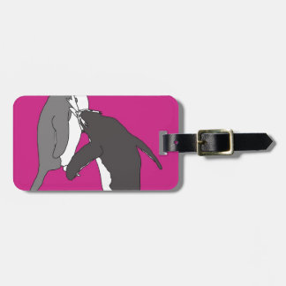 Pastures Pink and Bright Luggage Tag