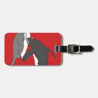 Pastures Red and Bright Tag For Bags