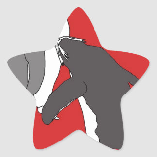 Pastures Red and Bright Star Sticker