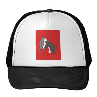 Pastures Red and Bright Trucker Hat