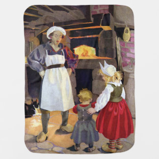 Pat-A-Cake Baker and Children Nursery Rhyme Baby Blanket
