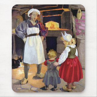 Pat-A-Cake Baker and Children Nursery Rhyme Mouse Pad
