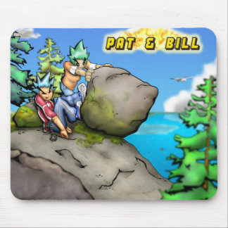 Pat and Bill Rock Push Summer Mouse Pad