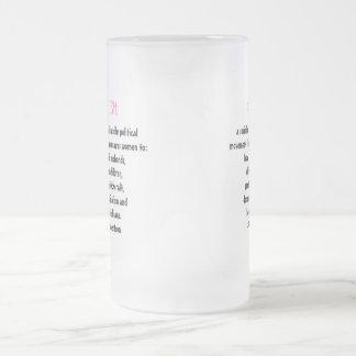 Pat Buchanan Anti Feminism 16 Oz Frosted Glass Beer Mug