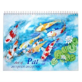 PAT MADAMBA calender 2011-2012 Wall Calendar
