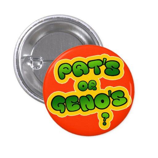 ¿Pat o Geno? Pin Redondo 2,5 Cm