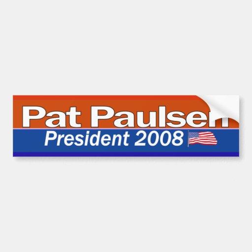 Pat Paulsen President Bumpersticker Bumper Sticker