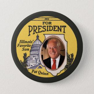 Pat Quinn Democrat for President 2016 Button