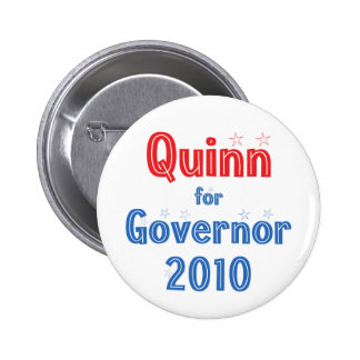 Pat Quinn for Governor 2010 Star Design Button
