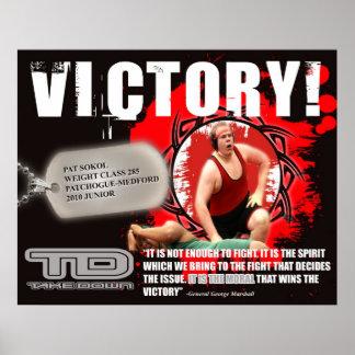 PAT SOKOL victory template 3 Poster