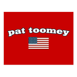 Pat Toomey American Flag Postcard