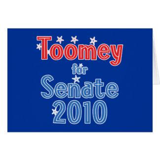 Pat Toomey for Senate 2010 Star Design Card