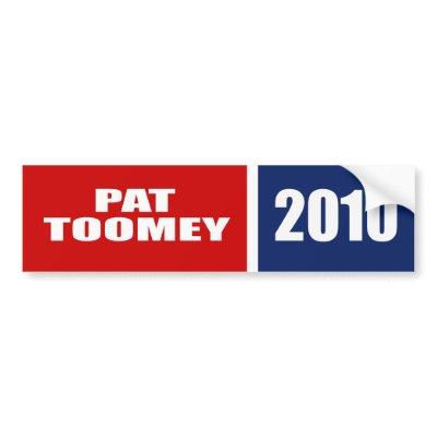 PAT TOOMEY FOR SENATE bumper sticker $ 5.95