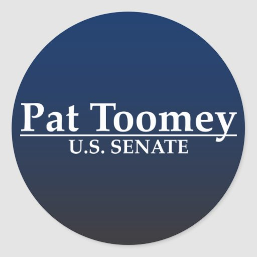 Pat Toomey U.S. Senate Classic Round Sticker
