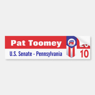 Pat Toomey U.S. Senate Pennsylvania Bumper Sticker