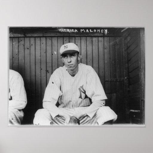 Pat W. Maloney, béisbol de los New York Yankees Póster