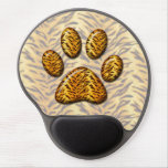 Pata #1 del tigre alfombrillas de raton con gel