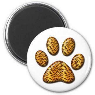 Pata #1 del tigre imán redondo 5 cm