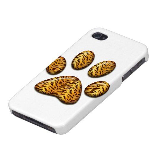 Pata #1 del tigre iPhone 4 fundas