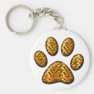 Pata #1 del tigre llavero redondo tipo pin
