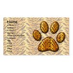 Pata #1 del tigre plantilla de tarjeta personal