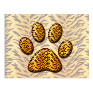 Pata #1 del tigre postal