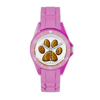 Pata #1 del tigre reloj de mano