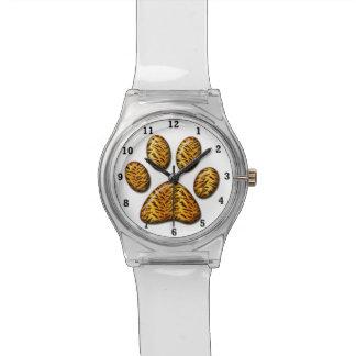 Pata #1 del tigre relojes de pulsera