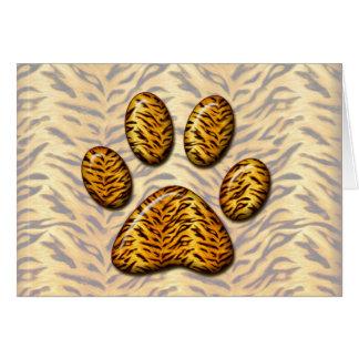 Pata #1 del tigre tarjeta de felicitación