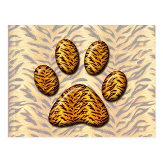 Pata 1 del tigre tarjeta postal