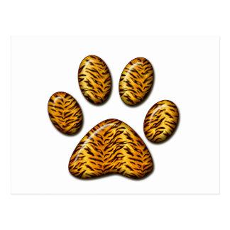 Pata 1 del tigre tarjetas postales