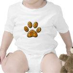 Pata #1 del tigre traje de bebé