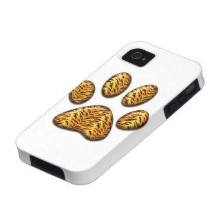 Pata #1 del tigre vibe iPhone 4 carcasa