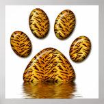 Pata #2 del tigre impresiones