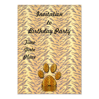 Pata #2 del tigre invitaciones magnéticas