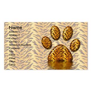 Pata 2 del tigre plantillas de tarjetas de visita