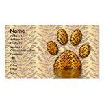 Pata #2 del tigre plantillas de tarjetas de visita