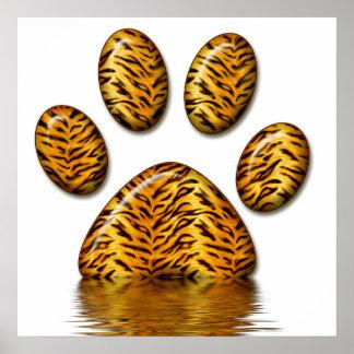 Pata #2 del tigre póster