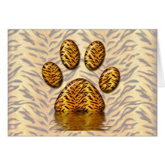 Pata #2 del tigre tarjeta de felicitación
