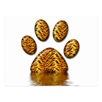 Pata 2 del tigre tarjeta postal