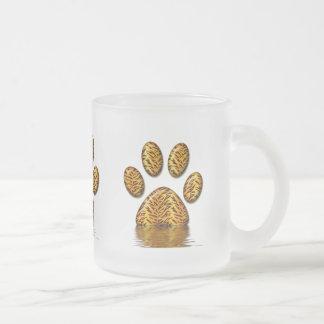 Pata #2 del tigre taza cristal mate