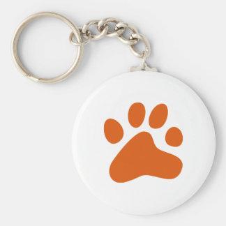 Pata anaranjada del perro llavero personalizado