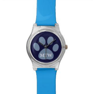 pata azul del perro reloj