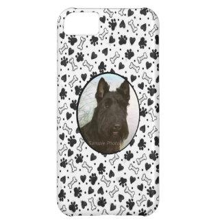 Pata blanco y negro personalizada de Dogbone de la Funda Para iPhone 5C