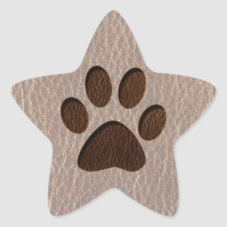 Pata de la Cuero-Mirada suave Pegatina En Forma De Estrella