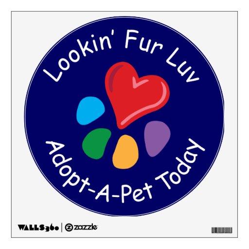 Pata de Luv_Adopt-a-Pet Today_Heart de la piel de Vinilo Decorativo