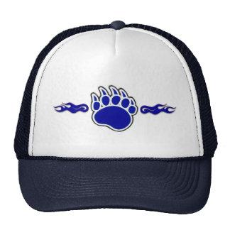 Pata de oso azul con las llamas gorras de camionero